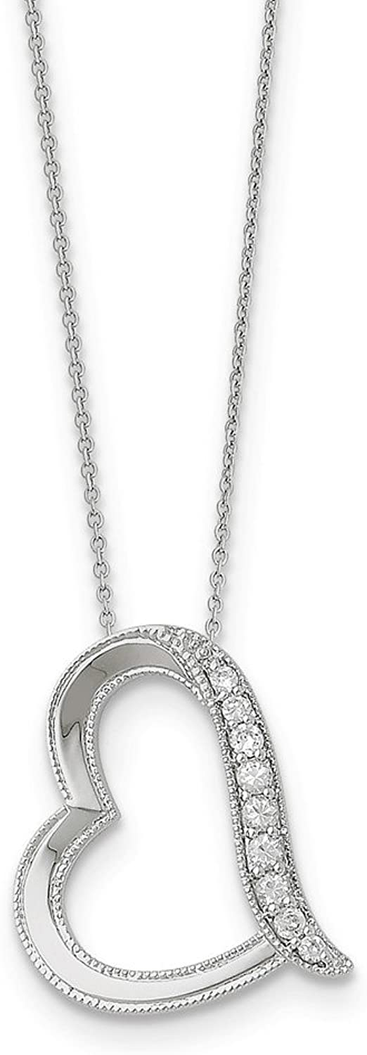 925 Sterling Silver Antiqued CZ DaughterInLaw 18in Necklace