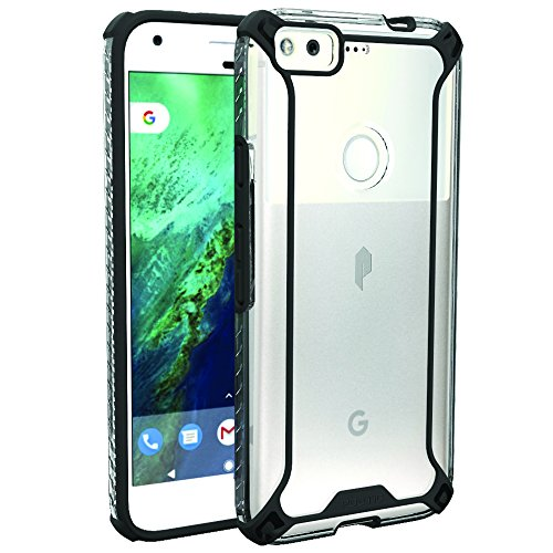 Google Pixel Case, POETIC Affinity Series Premium Thin/No Bulk/Slim fit/Clear/Dual Material Protective Bumper Case for Google Pixel (2016) Black