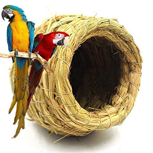 Z-Y Nichoir à Oiseaux Main Paille Oiseau Naturel Nid d'oiseau/Pigeon House Parrot Nest Chaud Chambre Pet Cages Cour d'oiseaux Parure