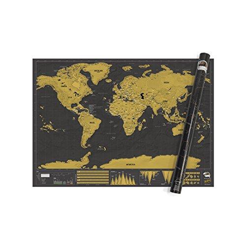 Luckies of London Weltkarte zum Rubbeln - Das Original Scratch Map, Deluxe, XL, 119 x 84cm