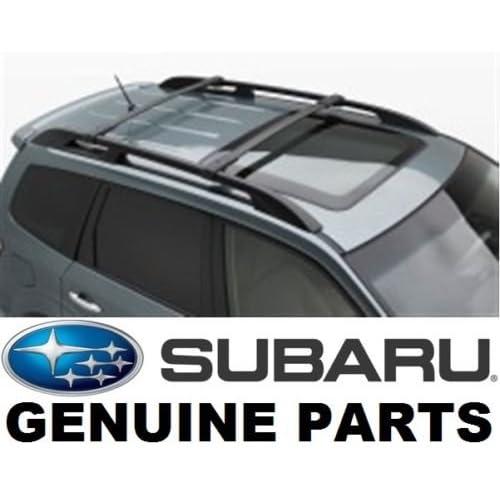 Grey Roof Rack Cross Bars Roof Railing Lockable for Subaru Forester 2008-2013