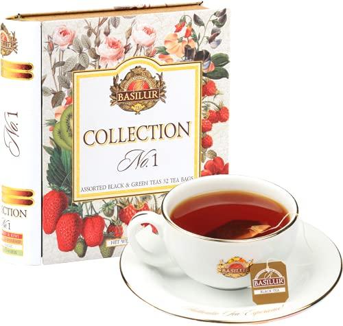 【敬老の日ギフト】紅茶 バシラーティー コレクションNo1 4種(ラズベリー&ローズヒップ ストロベリー&キウィ ミルクフレーバー ミントフレーバー) 32袋入り ストロベリー 1 個