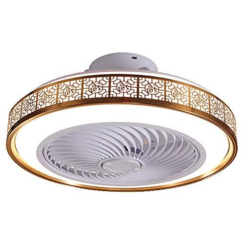 Ouuily LED Luz Ventilador Invisible, 40W Moderno Ventilador de Techo con Lámpara Ultra Silencioso Luz de 3 Bandas Velocidad de Viento para Dormitorio Sala de Estar Comedor,C