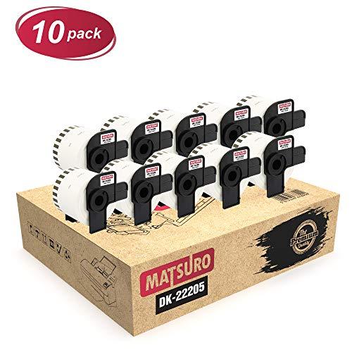 5 Rollos RINKLEE DK-11201 Etiquetas Compatible para Brother P-Touch QL-500 QL-550 QL-560 QL-570 QL-580 QL-700 QL-710W QL-720NW QL-800 QL-810W QL-820NWB QL-1060N QL-1100 QL-1110NWB 29 x 90 mm