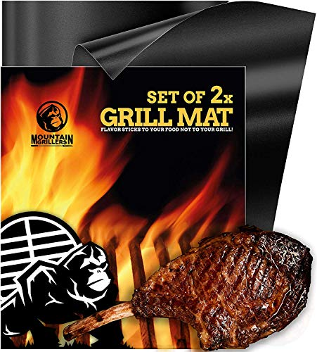 BBQ Grill Mat Non Stick - Heavy Duty BBQ Grilling Mats for Gas Grill or Charcoal - Nonstick...