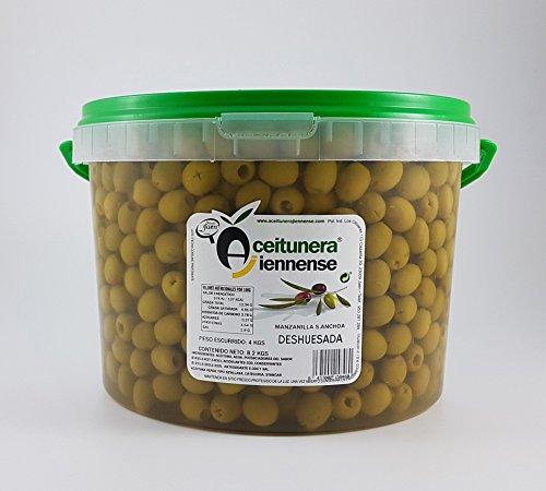 Aceituna Manzanilla Sabor Anchoa Deshuesada | Aceitunera Jiennense | Cubo 8,2 kgs (Peso neto )