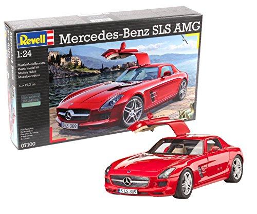 Revell Modellbausatz Auto 1:24 - Mercedes-Benz SLS AMG im Maßstab 1:24, Level 4, originalgetreue Nachbildung mit vielen Details, 07100