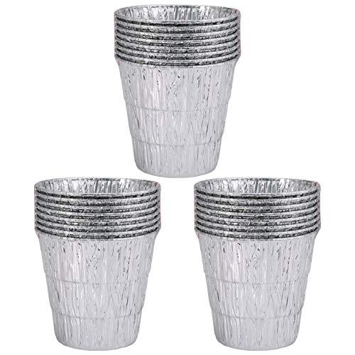 Grasso Secchio Liners, Alluminio Monouso Parte di Ricambio per Traeger Green Mountain Oklahoma Joe Legno Smoker Pellet Grill Drip Tray, 24pcs