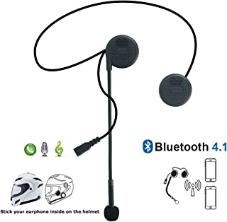 iMESTOU Motorcycle Bluetooth Headphones with Microphone for Helmet with Sound Headset System for Harley Davidson/BMW