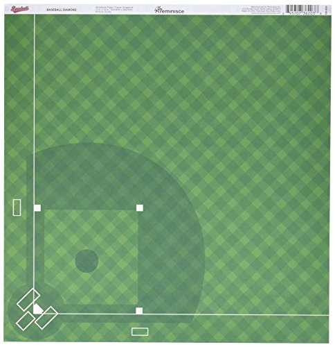 Reminisce Béisbol Doble Cara cartulina (30,4x 30,4cm Gorra Diamond