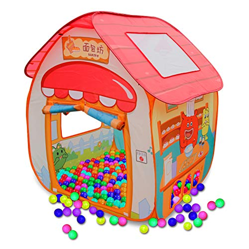 ALPIKA Play Tent Boys Girls GuliGuli Pop up Toys Kids Tent Indoor & Outdoor with 50 Pit Balls Playhouse for Children