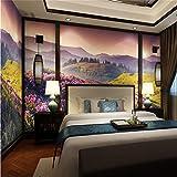 MIZI Beau décor 3D HD Belle Montagne Fleur mer TV Fond d'écran de paroi...