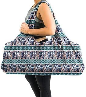Yogiii Large Yoga Mat Bag | The Original YogiiiTotePRO | Large Yoga Mat Tote Sling Carrier with Side Pocket | Fits Most Size Mats