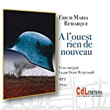 A l'ouest rien de nouveau (1CD audio MP3) - CDL éditions - 16/03/2013