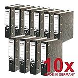 Original Falken 10er Pack Recycling-Doppelordner Wolkenmarmor. Made in Germany. 7 cm breit schwarz...