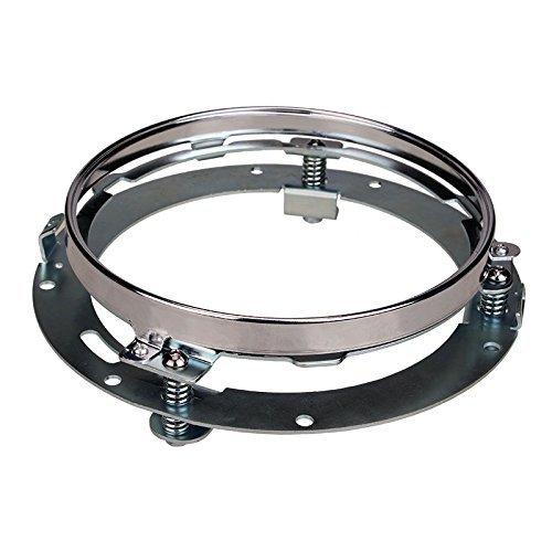 SUNPIE 7 inch Chrome Round Headlight Ring Mounting Bracket for Harley Motorcycle Headlight Mount