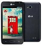 LG L65 martphone Orange Libero Android (schermo da 4.3', fotocamera da 5 MP, 4 GB, dual-core da 1,2 GHz, 1 GB di RAM), Nero