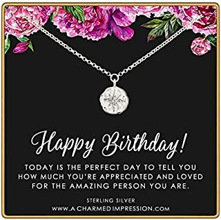 Birthday Gift for Women • 925 Sterling Silver • CZ Diamond Starburst Necklace • Celestial Jewelry • Celebration Gifts for Women • You are Amazing, Appreciated and Loved
