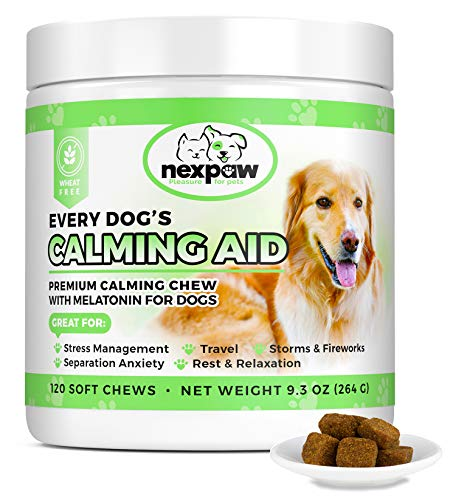 NEXPAW Calming Treats for Dogs with Melatonin - Best for Anxiety from...