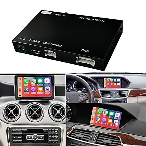 Wireless CarPlay Android Auto fürMercedes Benz A Klasse W176 B W246 CLA GLA C Klasse W204 E Klasse W212 C207 CLS W218 ML GL GLK SLK R72 G W463, mit MirrorLink Autolink Airplay Funktion