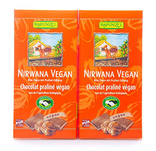 Rapunzel Bio Nirwana vegane Schokolade mit Pralinè-Füllung HIH (2 x 100 gr)