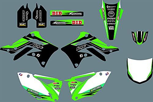 DST0687 Custom Kawasaki motocicleta Decal Kit Motorcross gráficos moto etiqueta engomada para Kawasaki KXF 450 2012 3M Adhesivos