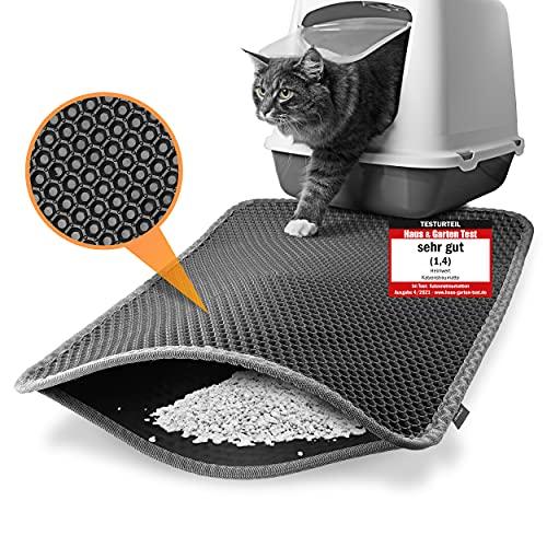 Heimwert, tappetino per lettiera per gatti – solo per la migliore nasi di pelliccia – Tappetino impermeabile di alta qualità per la lettiera dei gatti | Tappetino per lettiera per gatti | 61 x 39 cm