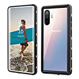 Zimu Joy Samsung Galaxy Note10+ Plus Waterproof Case, Shockproof Snowproof Impact Resist Cover IP68 Underwater Full Body Protection Case with Built-in Screen Protector Case for Note 10+ (White+Clear)