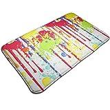 Splatter Clipart - Felpudo de pintura absorbente de agua, 23.6 x 15.8 pulgadas
