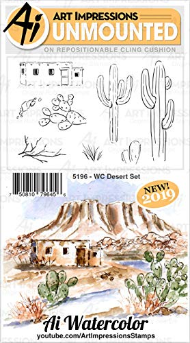ART IMPRESSIONS AI RUBBER STAMP SET WC DESERT