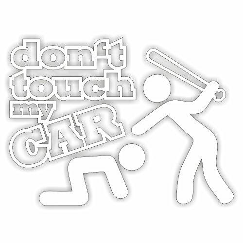 folien-zentrum Dont Touch My car Shocker Hand Auto Aufkleber JDM Tuning OEM Dub Decal Stickerbomb Bombing Fun w (Weiß) (Weiß)
