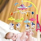 YYSDH Juguetes para bebés Cuna Cuna móvil con Luces con la música del proyector de Estrellas Remoto Caja de música, música móvil para Cuna, Agregados en la Cama para bebés de 0-24 Meses