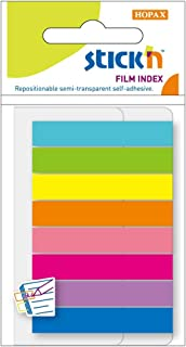 HOPAX-Stick'n 21401 Sticky Note 45X8 mm - Multi Color, 20 Sheets