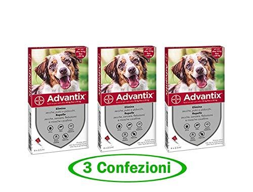 advantix Spot-ON per Cani Oltre 10 kg Fino a 25 kg - Offerta 3 Confezioni