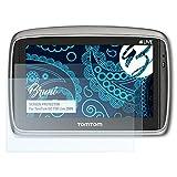 Bruni Pellicola Protettiva per TomTom GO 750 Live 2009 Pellicola Proteggi, cristallino Proteggi Schermo (2X)