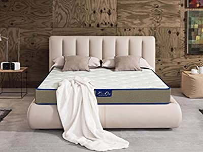 "Innerspring Mattress - 10"" Firm Mattress/Multi Layer Memory Foam/Wrapped Pocketed Encased Coil Pocket Spring with Ergonomic Structure Design [20 Years Warranty]"