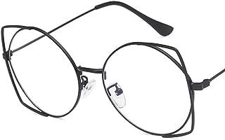 Unisex Glasses Frame Retro Gold Oval Full Frame Decoration Prescription Glasses