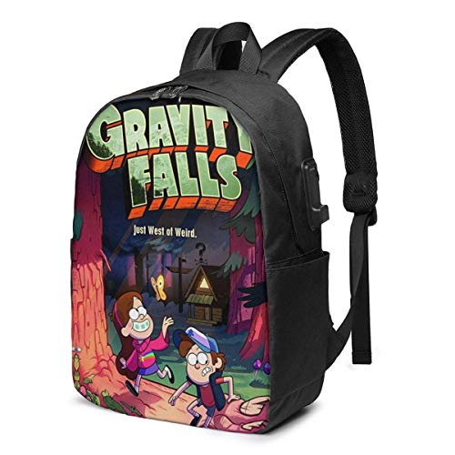 Hdadwy Gra-Vity FA-Lls Backpack School Bags Daypack USB Chargeing Port Laptop Bag Handbag School High/College Students