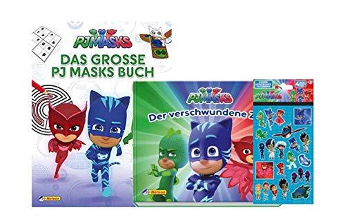 Buchspielbox PJ Masks: Das große PJ Masks Buch + Der verschwundene Zug (Pappbilderbuch) + 1 PJ Masks Stickerbogen