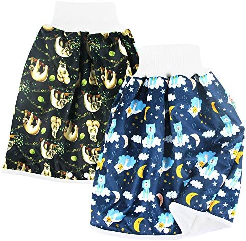Langsprit Unisex Baby Cloth Diaper Guards for Potty Training Reusable Diaper Skirt Short for product image