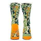 Lacrosse Woven Mid-Calf Socks | Lax Stick Head | Woodland Camo