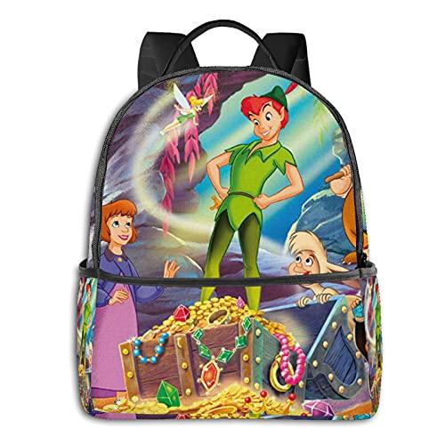 Peter Pan Mochila con cremallera suave bolsa de viaje ocio portátil estudiante universidad escuela escuela ciclismo ocio camping al aire libre