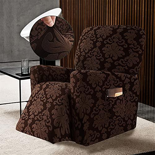 HUAGE Silla Silla Cubierta Cubierta reclinable, Silla Jacquard Cubierta de Silla elástica de la sillón para la Sala de Estar Todo Incluido sillón reclinable Sofá (Color : Color C)
