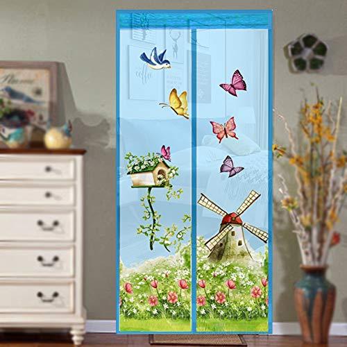 Der neue magische Vorhang mit Maschentür erfasst fliegende Insekten und Insekten A1 B80xH210 magnetisch