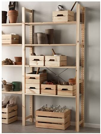 IKEA Knagglig Caja de almacenamiento de pino con acabado natural, 23 x 12 1/4 x 6 pulgadas (2)