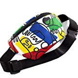 Casual Daypack Crossbody Bag Belt Waist Packs, Waist Pocket, Adjustable belt bag, famous art canvas, for travellers (Multicolor)