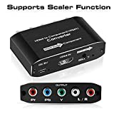 NEWCARE HDMI to 1080P Component Video (YPbPr) Converter with Scaler,HDMI to Component Adapter Support Coaxial Audio Output and R/L Audio(Black)