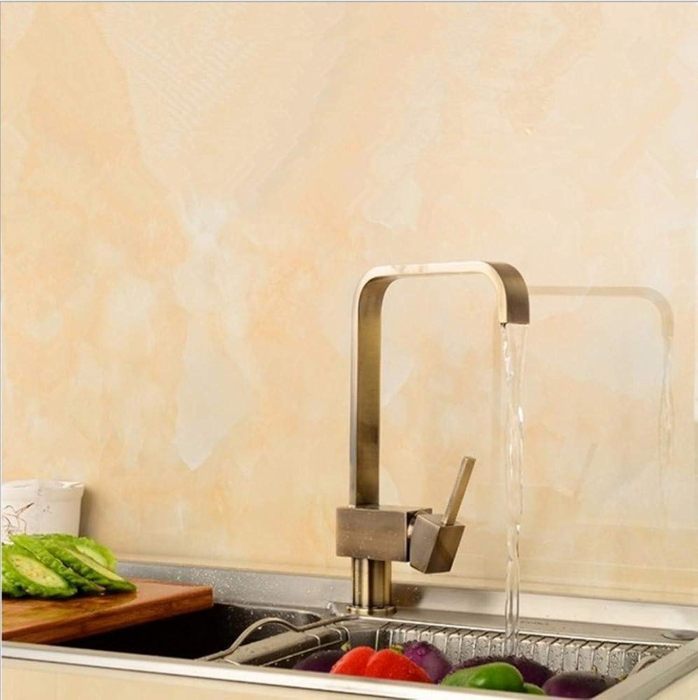 Xiujie Wasserhhne Kitchen Wasserhahn Square Wasserhahn Heie Und Kalte Spüle Wasserhahn Kupferne Küche Wasserhahn