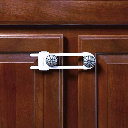 Toddleroo by North States Sliding Cabinet Locks | Keep Side by Side cabinets Safely and securely Closed | Works on Cabinet Handles up to 4.5