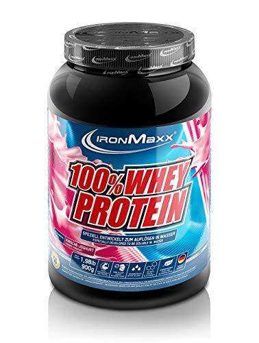 IronMaxx 100% Whey Protein – Whey Eiweißpulver auf Wasserbasis – Proteinshake mit Kirsche-Joghurt Geschmack – 1 x 900 g Dose
